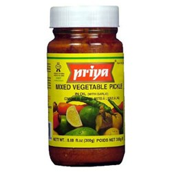 Picture of Priya Mixed Vegetable Pickle With Garlic 300gm