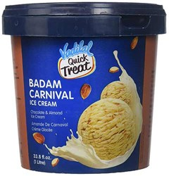 Picture of Vadilal Quick Treat Almond Carnival Ice Cream 1ltr
