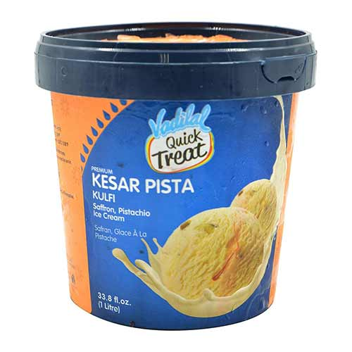 Picture of Vadilal Kulfi Kesar Pista Ice Cream 1ltr