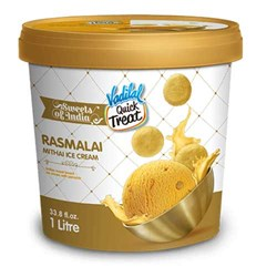 Picture of Vadilal Quick Treat Rasmalai Mithai Ice Cream 1ltr