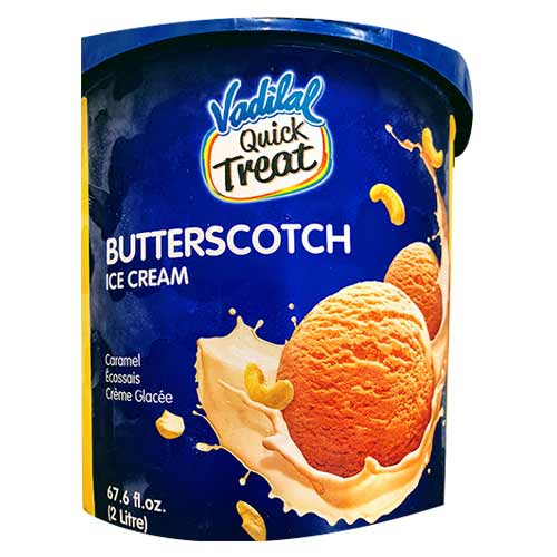 Picture of Vadilal Quick Treat Butterscotch Ice Cream 2ltr