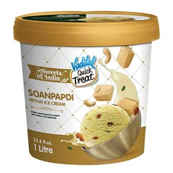 Picture of Vadilal Soanpapdi Mithai Ice Cream 1ltr
