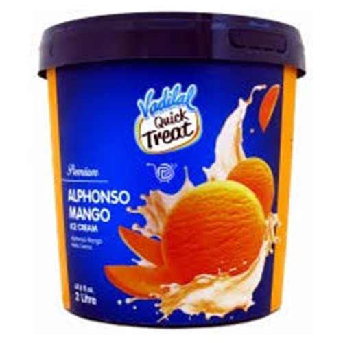 Picture of Vadilal Quick Treat Alphonso Mango Ice Cream 2ltr