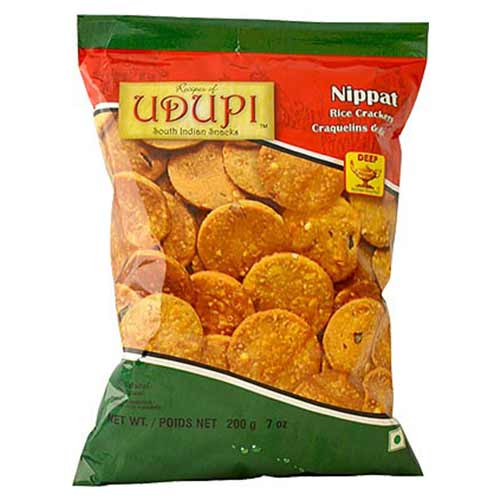 Picture of Udupi South Indian Snacks Nippat Rice Crackers 7oz
