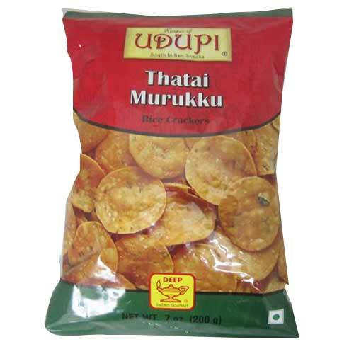 Picture of Udupi South Indian Snacks Thatai Murrukku 7oz