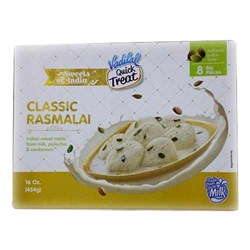 Picture of Vadilal Classic Rasmalai 454gm. (8 Big Pieces)
