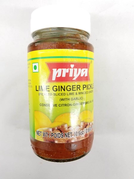 Picture of Priya Lime Ginger Pickle With Garlic 300gm