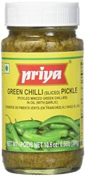 Picture of Priya Green Chilli Pickle With Garlic 300gm