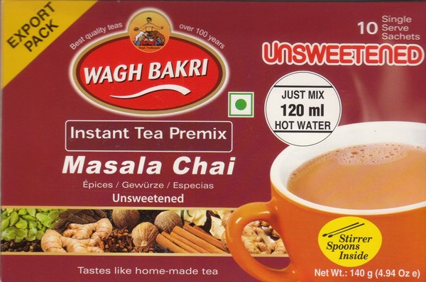 Picture of Wagh Bakri Unsweetened Masala Tea Bags 10pc