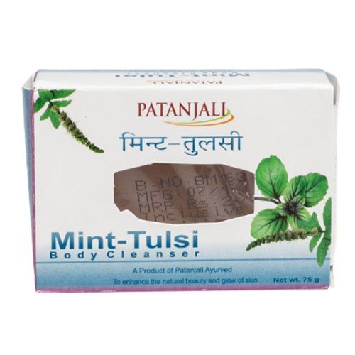 Picture of Patanjali Mint Tulsi Soap 75gm