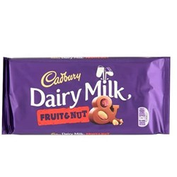 Picture of Cadbury Fruit & Nut Bar 200gm