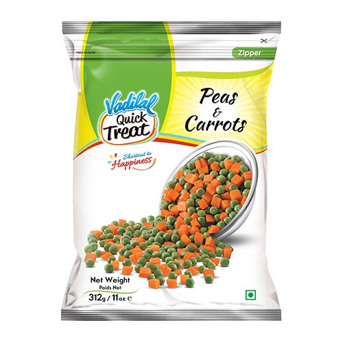 Picture of Vadilal Peas & Carrots 312gm