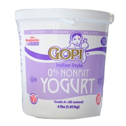 Picture of Gopi Non Fat Yogurt 4lb