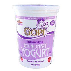 Picture of Gopi Non Fat Yogurt 2lb