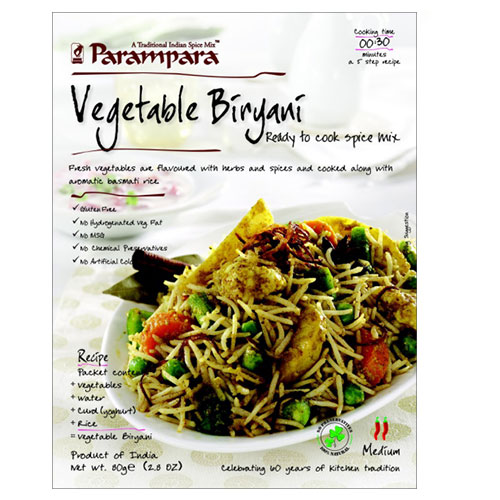 Picture of Parampara Veg. Biryani 2.8oz