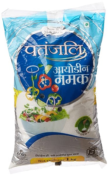 Picture of Patanjali Iodized Salt 1kg.