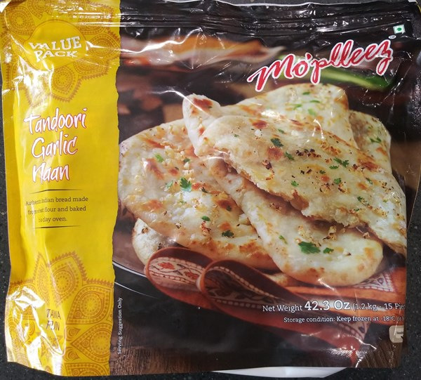 Picture of Mo'plleez Tandoori Garlic Naan 15pc.
