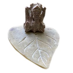 Picture of Ganesha Stone Incense Plate 3 Inch