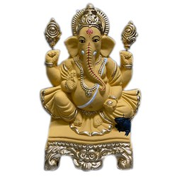 Picture of Ganesh clay idol soluble 7.5 Inch