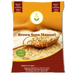 Picture of Shastha Brown Sona Masoori Rice 20lb.