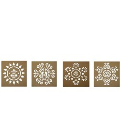 Picture of Wooden Stencil 18' 18 Inch ( Set of 4)