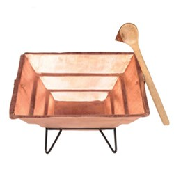 Picture of Copper Haven Kund With Stand And Spoon 6 Inch