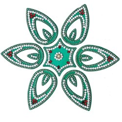 Picture of Acrylic Rangoli Green
