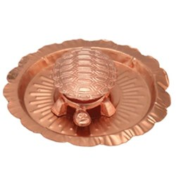 Picture of Copper Vastu Kachua Plate 3.5 Inch
