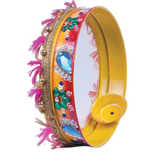 Picture of Karva Chauth Decorated Chalni With Diya 7 Inch