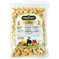 Picture of Crescent Cashew Roasted and Salted 12oz